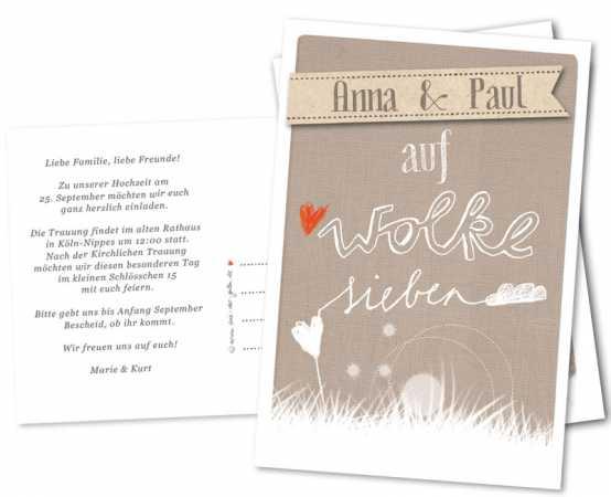 Retro, Vintage Hochzeitseinladungen, beige, creme mit euren Namen ...