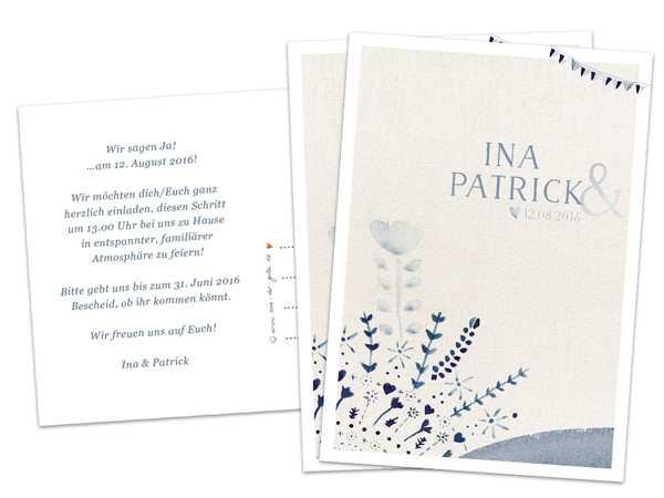 für die Hochzeit - Hochzeitseinladungen mit euren Namen ...