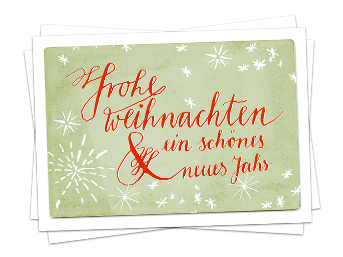 weihnachtskarte frohe weihnachten kalligrafie a6 postkarte eine der guten papeterie