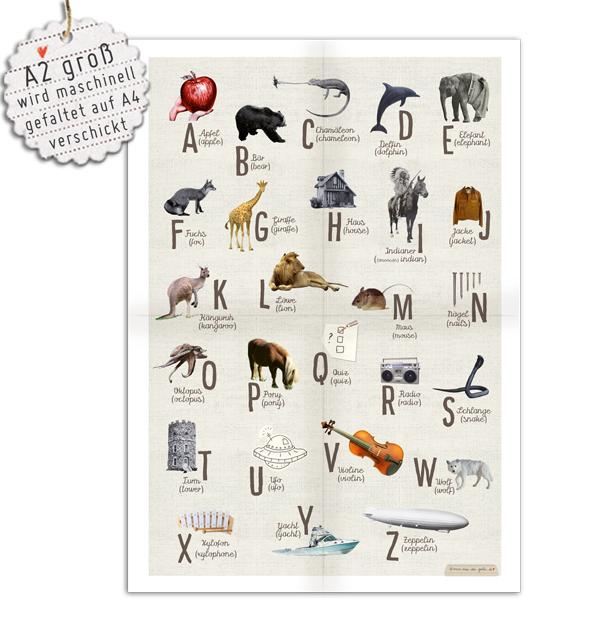 abc poster english deutsch zum schulanfang mehrsprachig deutsch englisch als kinderzimmer. Black Bedroom Furniture Sets. Home Design Ideas