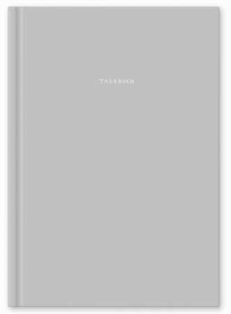 Perfekt als Tagebuch Cover Grau 144 Seiten Blanko Creme Papier Notizbuch // Bullet Journal A5 mit Softcover von Northbooks Skizzenbuch Handlettering Buch FSC-zertifiziertes Papier