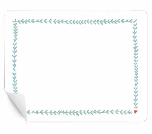 15 Aufkleber Zum Beschriften Hellblau Weiß Für Geschenke