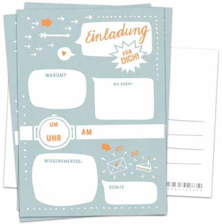Postkarten einladungskarten geburtstag
