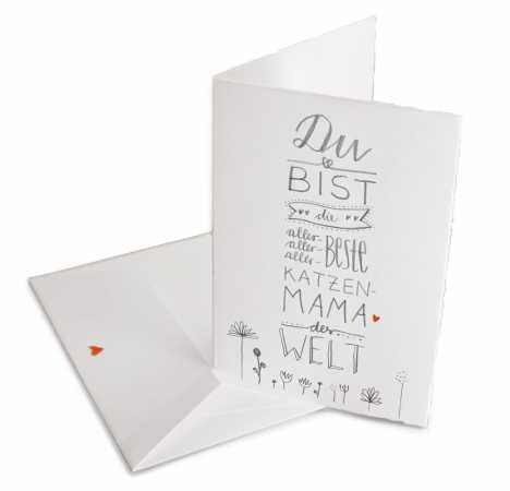HORN Muttertagskarte Umschlag inkl Illustriertes Herz