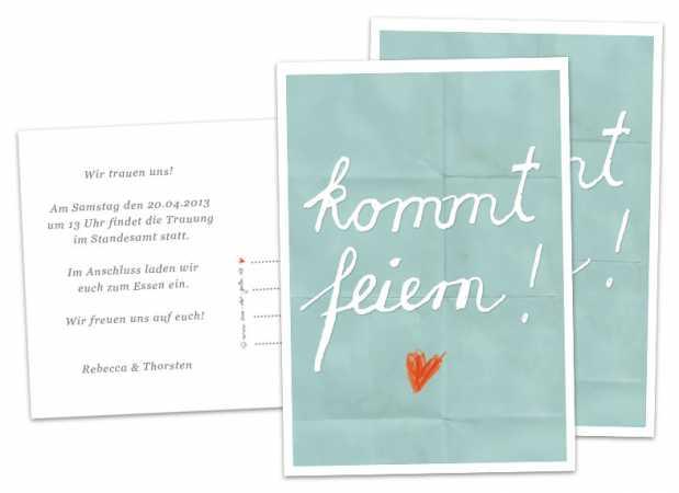 Schön 30 100 Hochzeitskarten   Kommt Feiern!   Türkis   Hochzeitseinladungen  Inklusive Individuellem Text Auf