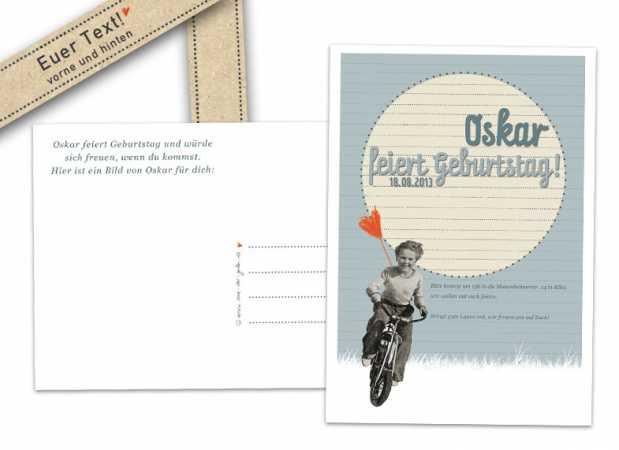 Postkarte Einladung Geburtstag Vorlagen Design