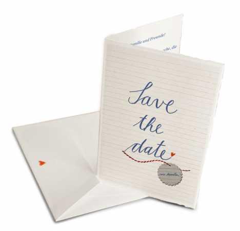 Hochzeitspostkarten Save the date, schlicht, weiß mit individueller ...