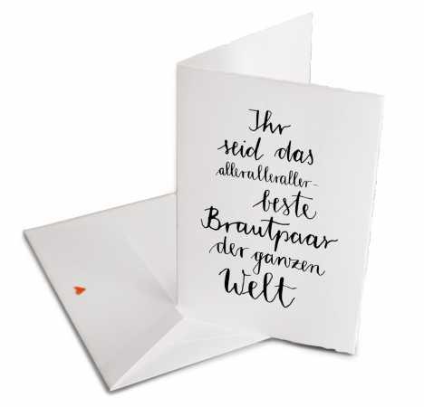 Hochzeitskarten Geschenke Eine Der Guten