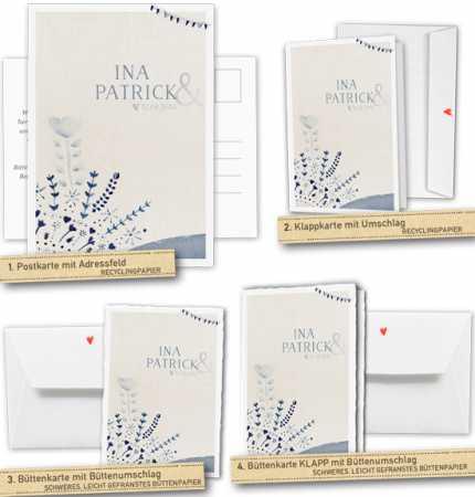 30 100 Einladungskarten Für Die Hochzeit   Hochzeitseinladungen Mit Euren  Namen Und Eurem Datum Im