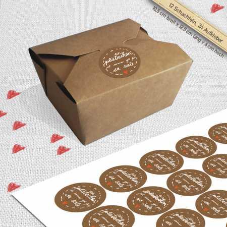 12 braune bioboxen f r geb ck kekse und cupcakes. Black Bedroom Furniture Sets. Home Design Ideas