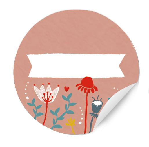 Runde Aufkleber Zum Beschriften Für Gastgeschenke Rosa Mit