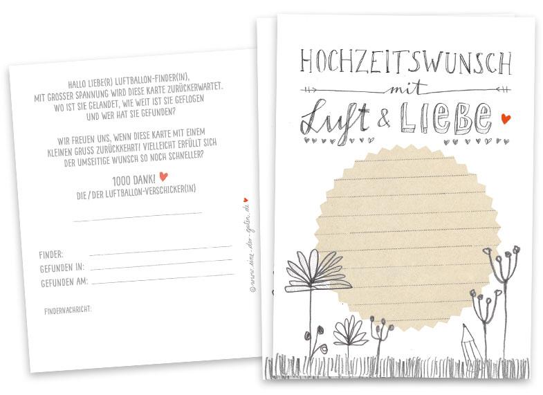 Ballonflugkarten Grau Weiss Beige Fur Hochzeit Hochzeitsspiel