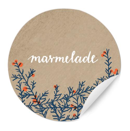 24 beige marmeladenetiketten zweige und beeren rund 40 mm eine der guten papeterie. Black Bedroom Furniture Sets. Home Design Ideas