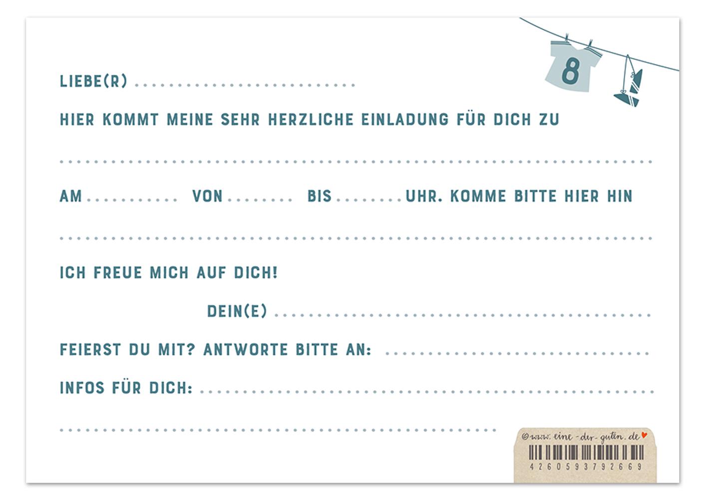 Einladungskarten Fussball Fur Jungen Kindergeburtstag Blau