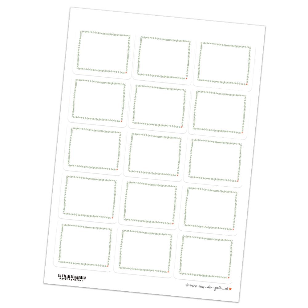 15 Aufkleber Zum Beschriften Hellgrün Weiß Für Geschenke