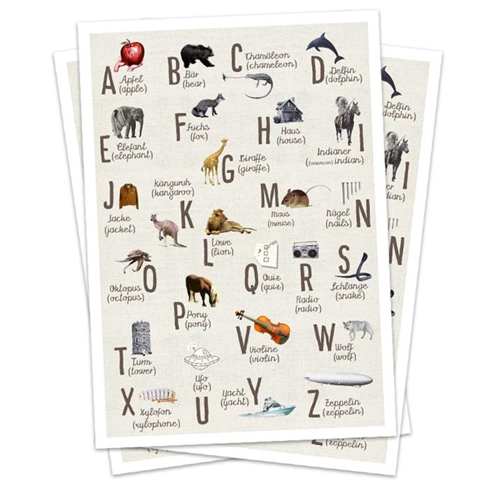 abc postkarte english deutsch zum schulanfang mehrsprachig deutsch englisch als kinderzimmer. Black Bedroom Furniture Sets. Home Design Ideas