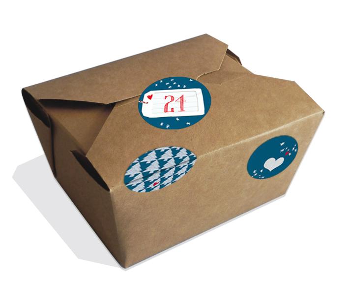 adventskalender 24 braune bio boxen 48 sticker adventskalenderzahlen deko zum bef llen. Black Bedroom Furniture Sets. Home Design Ideas