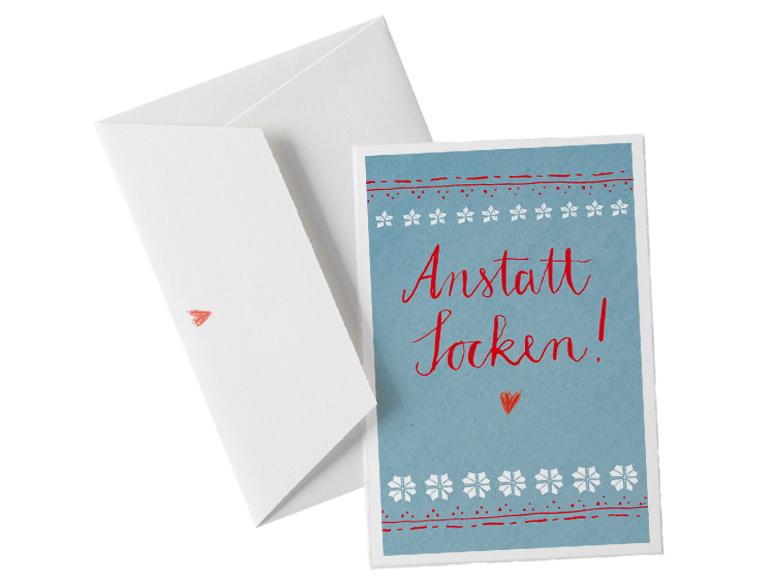 hochwertige b ttenkarte anstatt socken mit b ttenumschlag f r witzige weihnachtsgr e an die. Black Bedroom Furniture Sets. Home Design Ideas