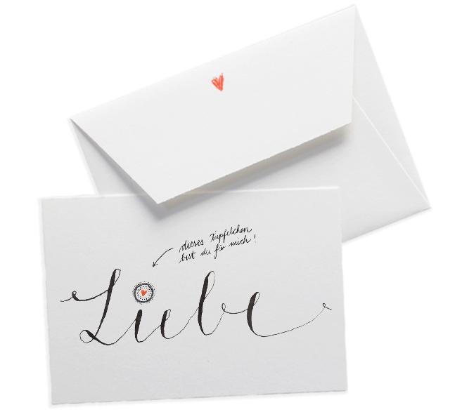 Büttenkarte Für Verliebte Für Ihn Valentinskarte Schlicht Design  Kalligrafie Typografie Valentinstag