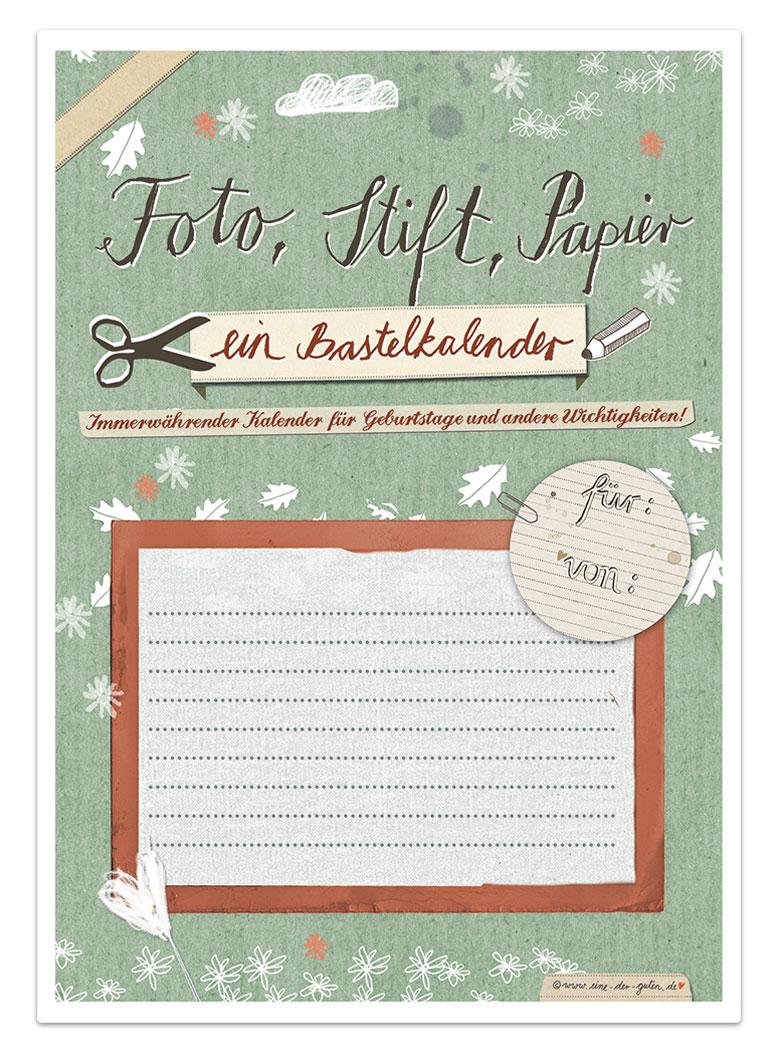 Bastelkalender fotokalender kreativkalender immerw hrend - Klebefliesen ka chenwand ...