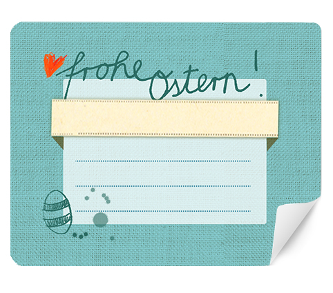 15 blaue frohe ostern etiketten zum selbstschriften rechteckig eine der guten papeterie. Black Bedroom Furniture Sets. Home Design Ideas