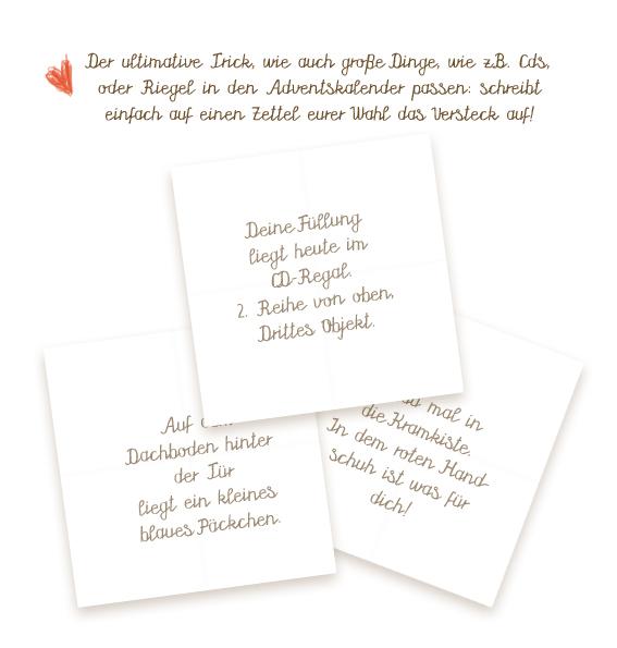 Befüllen freundin für selbst adventskalender DIY: Adventskalender