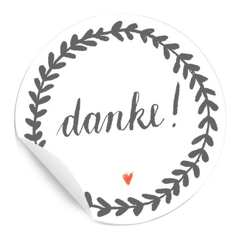 Vielseitige Matte Dankeschön Sticker In Grau Weiß