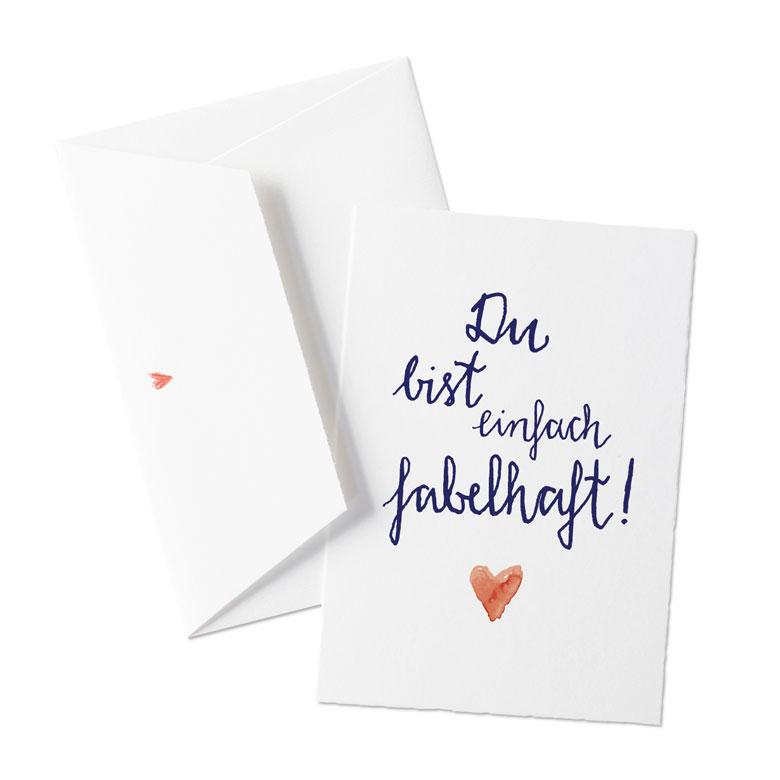 Liebevolle Valentinskarte oder allgemeine Grußkarte für liebe ...