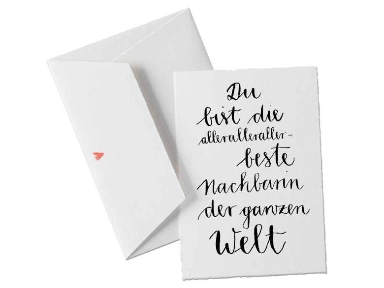 Buttenkarte In Schonem Design Kalligrafie Schwarz Weiss Fur