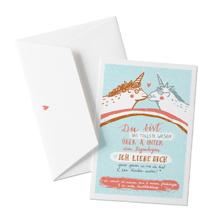 Kitschig coole Einhornkarte für alle Verliebten - EINE DER GUTEN ...