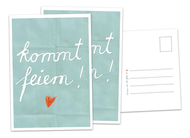 postkarte einladung geburtstag – kathyprice, Einladungsentwurf