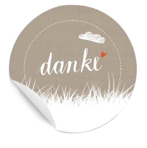 Vielseitige Matte Dankeschön Sticker In Braun Beige Für