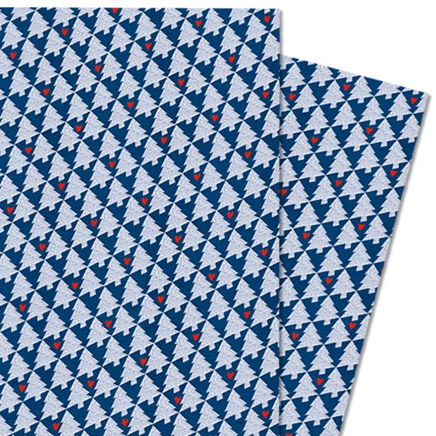 Geschenkpapier Weihnachten.Geschenkpapier Für Weihnachten Blau Tanne Block Mit 25 Blatt à 30x42 Cm Zum Abreißen Recyclingpapier Co2 Neutral Gedruckt Für Kinder