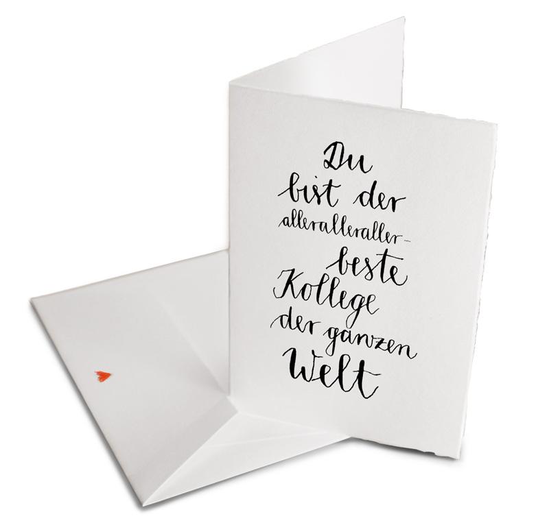 Karte Abschied Kollege.Geburtstagskarte Für Kollegen Jubiläum Abschied Büttenpapier