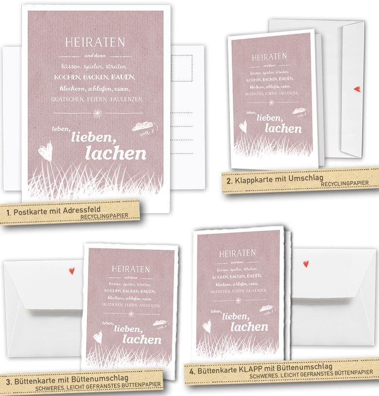 30 100 Hochzeitskarten Und Dann Rot Inklusive Individueller