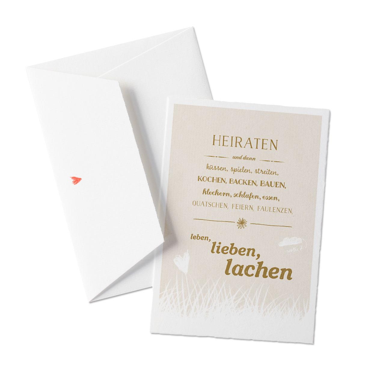 Heiraten Hochzeit Hochzeitseinladung Einladungskarten Creme  Hell Beige Natur