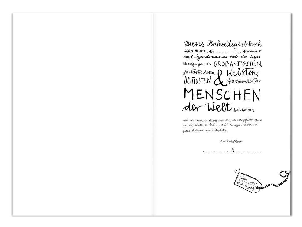 hochzeitsg stebuch im schlichten design kalligrafie mit festem einband hardcover eine der. Black Bedroom Furniture Sets. Home Design Ideas