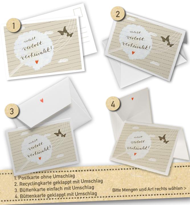 30 100 Hochzeitseinladungen Oder Danksagungskarten   Verliebt Verlobt  Verheiratet   In Creme Beige, Inklusive