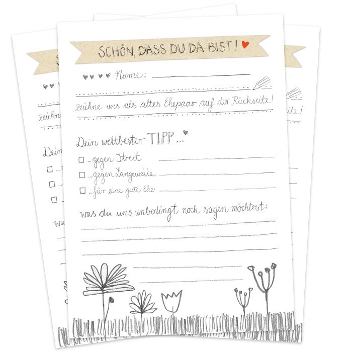 Hochzeitsspiel Schon Dass Du Da Bist Im Floralen Design Eine Der