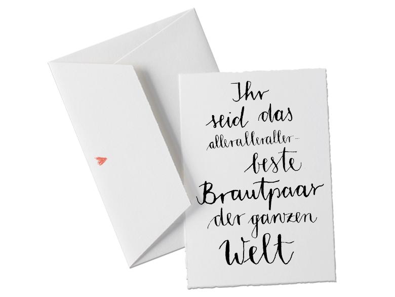 b ttenkarte in sch nem design kalligrafie schwarz wei f r das brautpaar das ehepaar. Black Bedroom Furniture Sets. Home Design Ideas