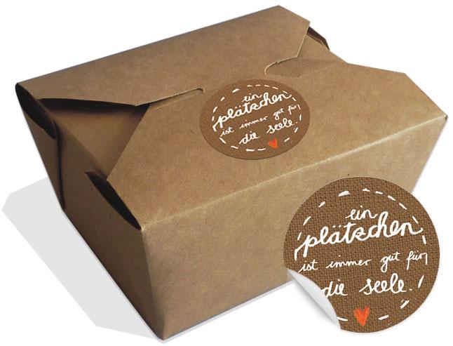 12 Braune Bioboxen Für Gebäck Kekse Und Cupcakes