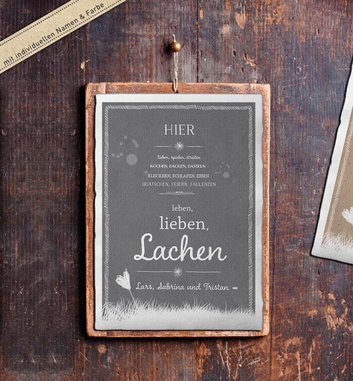 Personalisiertes familienbild mit spruch f r hochzeit und - Spruch auf leinwand ...