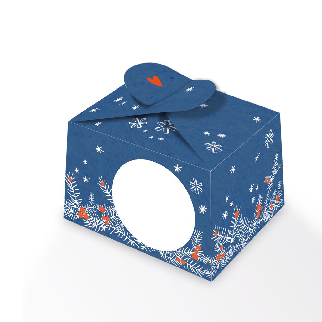 24 Adventskalender Boxen aus Karton zum selbst befüllen, Blau Weiß ...