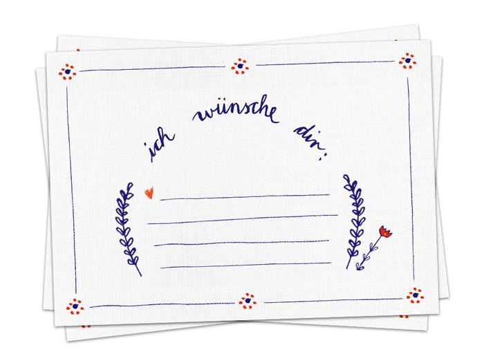 3 100 X Postkarte Ich Wünsche Dir Co2neutral Grußkarte