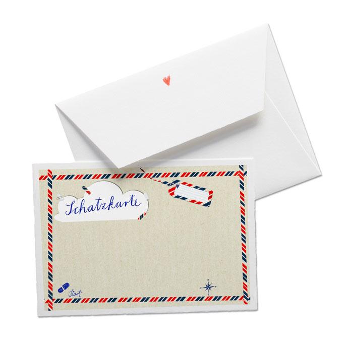 Schatzkarte Aus Büttenpapier Für Die Schatzsuche, Kindergeburtstag,  Hochzeitsspiel, Partyspiel U.v.m.