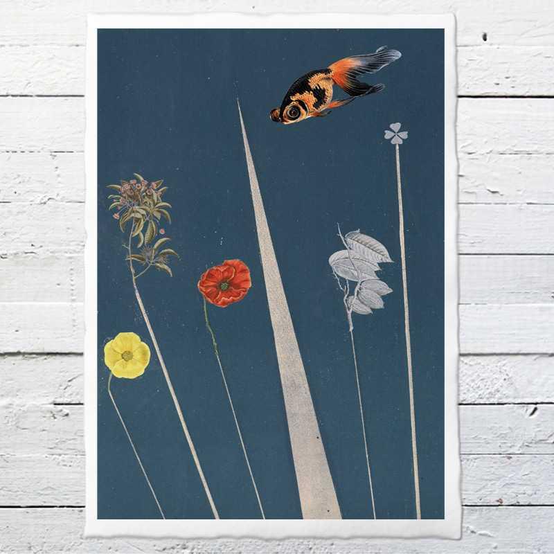 ber dem meer 22 druck auf b ttenpapier oder leinwand eine der guten papeterie postkarten. Black Bedroom Furniture Sets. Home Design Ideas