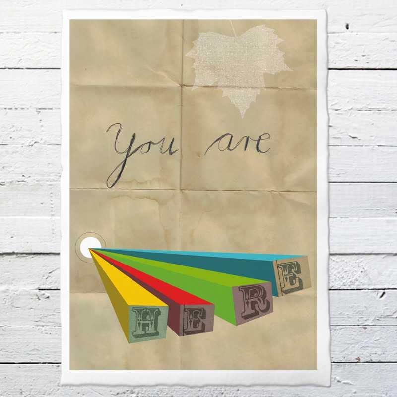 you are here 30 druck auf b ttenpapier oder leinwand eine der guten papeterie postkarten. Black Bedroom Furniture Sets. Home Design Ideas