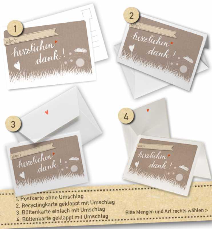 vielseitige personalisierte danksagungskarten danke im wolke 7 stil beige mit umschlag eine. Black Bedroom Furniture Sets. Home Design Ideas