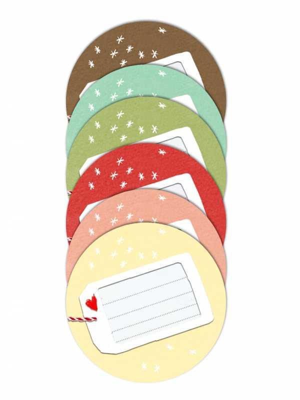 Weihnachtsgebäck Verpacken.24 Farbige Aufkleber Für Selbstgemachtes 40mm Matt Rund Eine