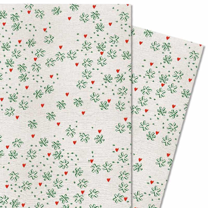 Geschenkpapier aus Recyclingpapier für Weihnachten, Sterne, grün ...